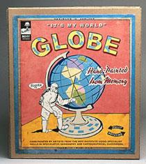 hand-painted globe